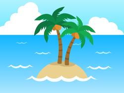 海の孤島イラスト