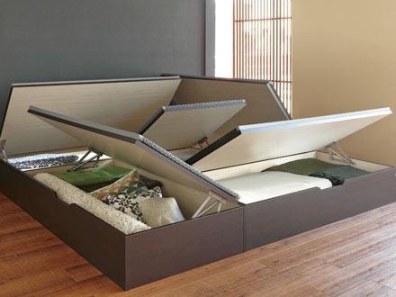 高床式ユニット畳の天板跳ね上げタイプ