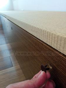 高床式ユニット畳のジョイント用のネジ穴