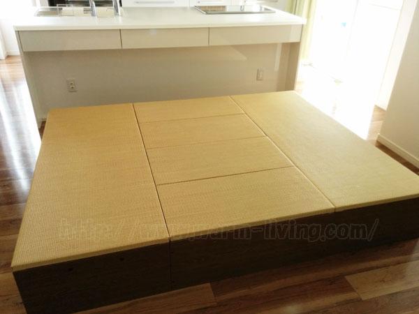 ヨシオ家の高床式ユニット畳