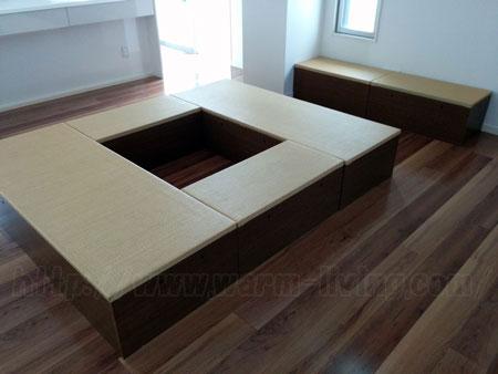 ヨシオ家の高床式ユニット畳、ロの字型バージョン