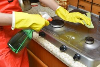 ガスコンロの掃除