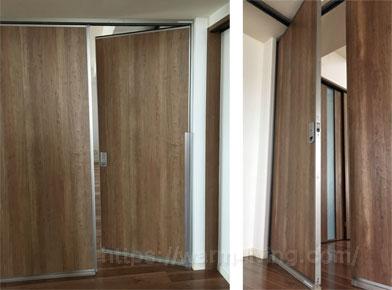 フリーウォールⅡで部屋を仕切った時の出入り口ドア